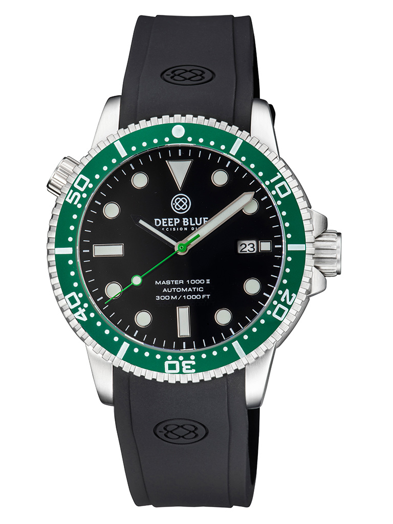 Master 1000 II 44MM Black Glossy / Green Bezel